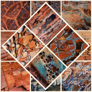 Suze Woolf painting of Zion rock textures